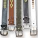 cinturones cuero bordado