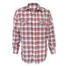 camisa escocesa rojo blanco