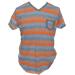 remera hombre rayada naranja gris