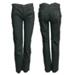 Pantalon elastizado negro recto bordado