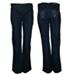 Pantalon azul recto bordado brillos