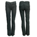 Pantalon negro recto bolsillo tableado con bordado