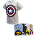 remera superheroes luces led